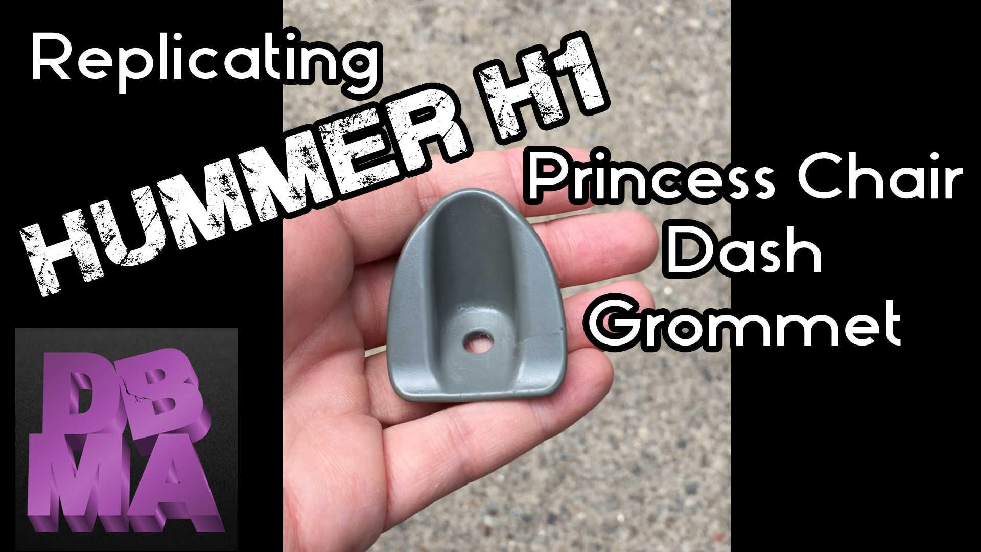 Replicating H1 Hummer Princess Chair Dash Grommet