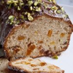 Apricot and Yoghurt Cake with Pistachio Topping