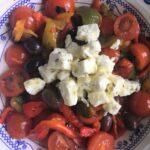 Caramelised Peppers and Feta Salad