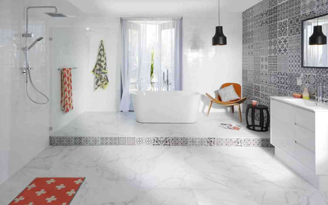 Monochromatic : Black and White Bathroom