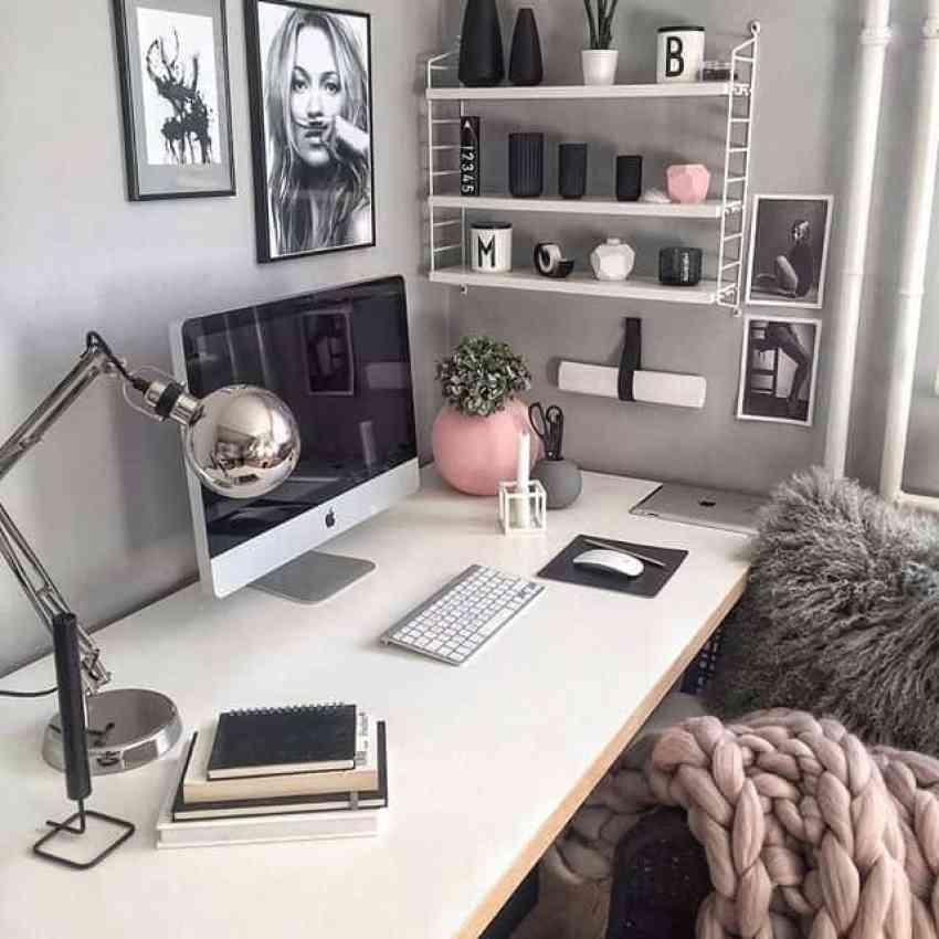 feminine inspired workspaces