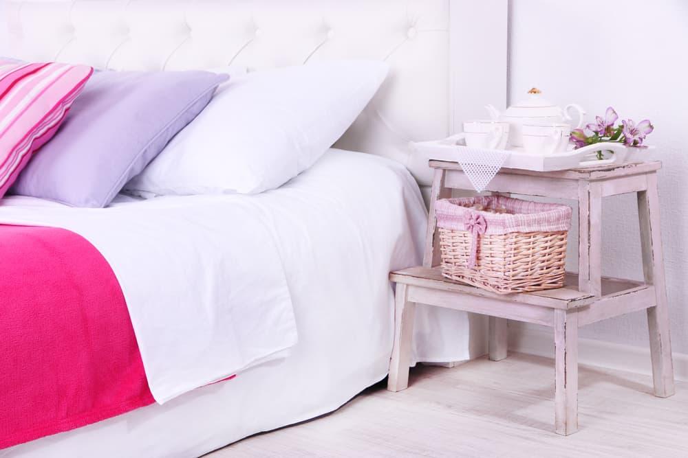 crisp white bedlinen