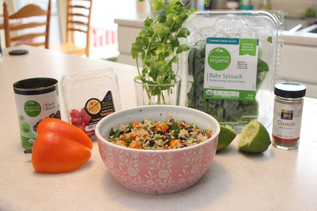 Ingredients Needed For Mexican Quinoa Salad - my Mexican Inspired Version of Tabbouleh!