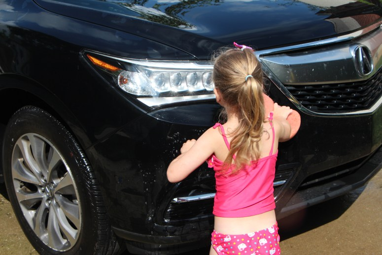 Water Activities - Washing the Car