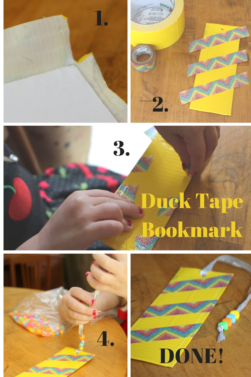 Beaded Duck Tape Bookmark