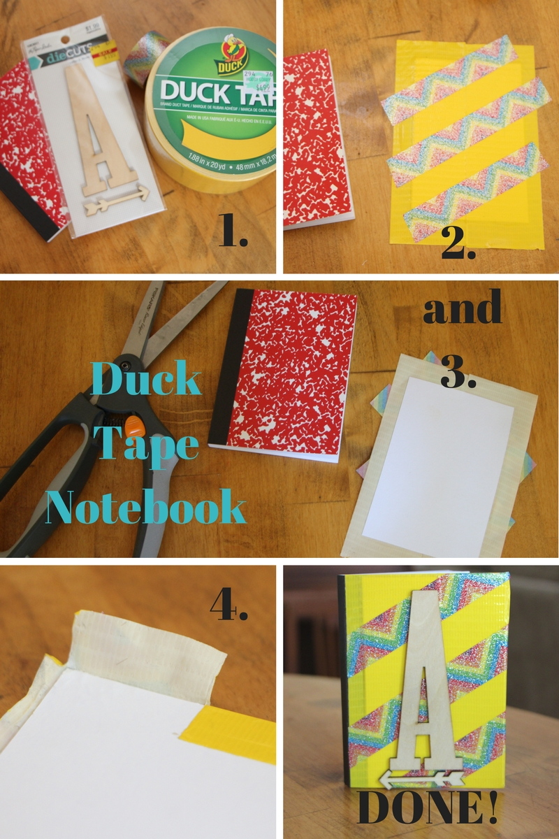 Cute, Mini Duck Tape Notebook