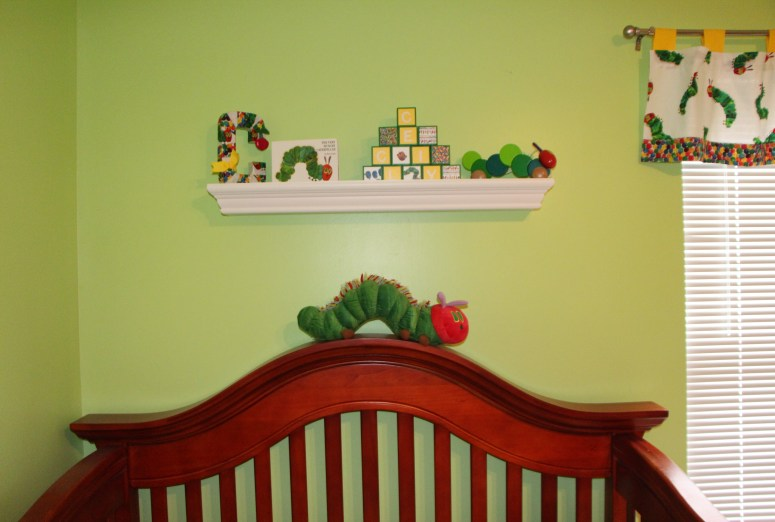 Eric Carle shelf decor