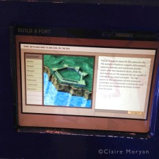 """""""Build a Fort"""" Interactive. Charles Fort. Image: Claire Moryan"""