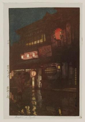 "Yoshida Hiroshi, ""Night in Kyoto"", 1933. Source: MFA Boston"