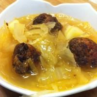 Sauerkraut Soup and Czech Vegan (in America)