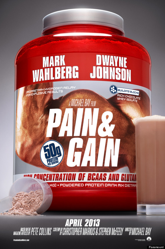 pain and gain muscle poster