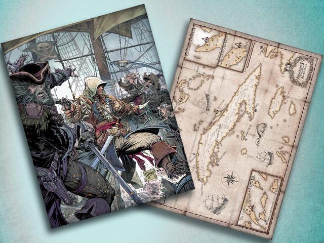 assassins creed 4 mcfarlane map poster