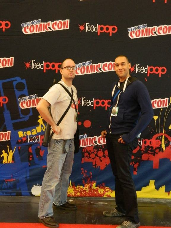 Chaz and CynicNerd at NYCC 2012