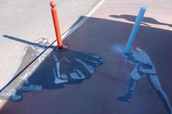 Star Wars Side Walk Art