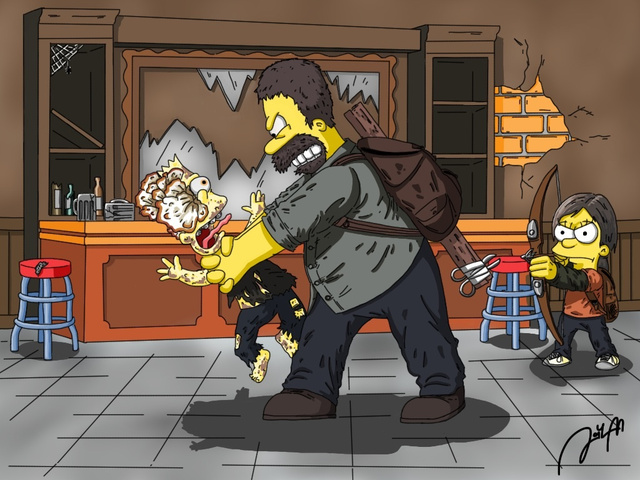 The Simpsons-Last of Us mashup