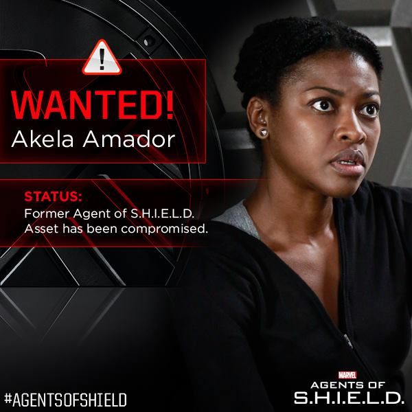 Agents of Shield Akela Amador Wanted Poster