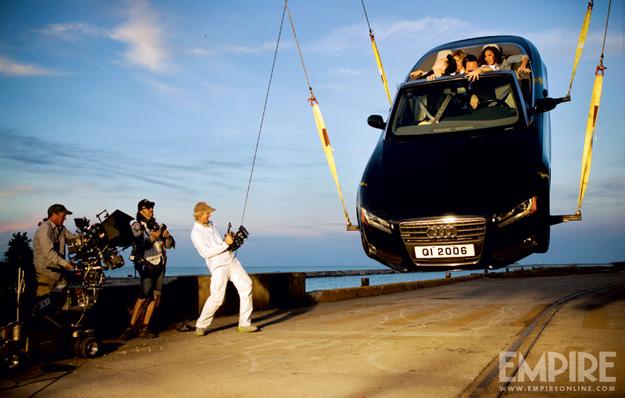 Michael Bay shooting Car Hanging