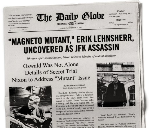 Newspaper X Men Days of Future Past Bent Bullet