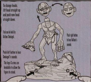 Action Figure Toy Biz ROTK Gollum Precious Phrase B