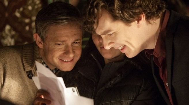 Sherlock-season-3-set-photo-Benedict-Cumberbatch-and-Martin-Freeman