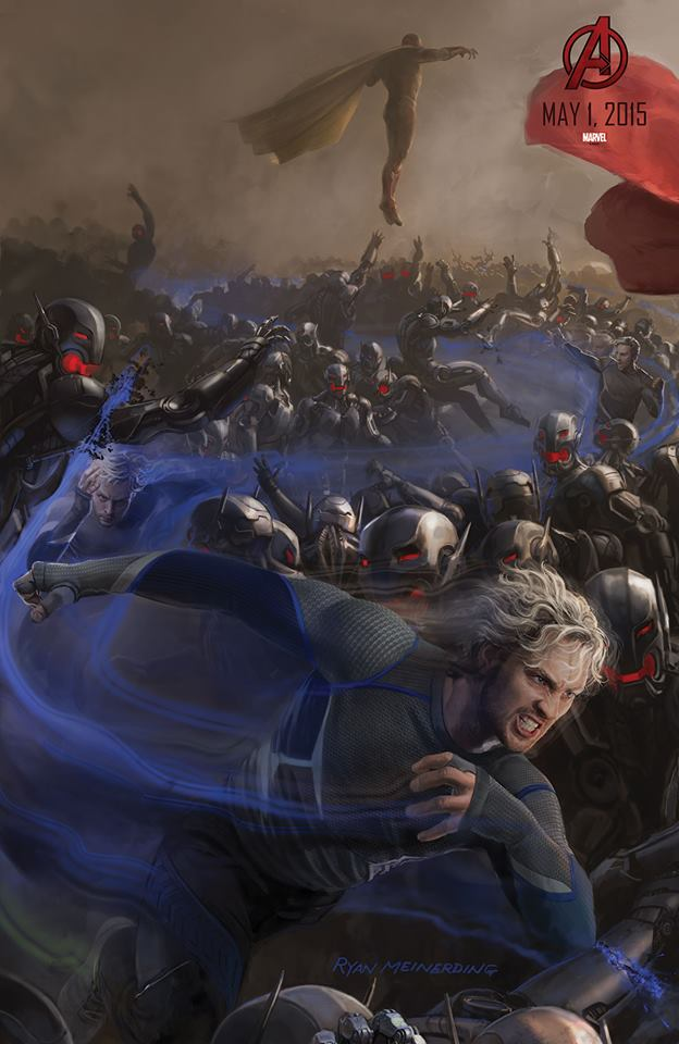 Quicksilver Vision Avengers age of ultron