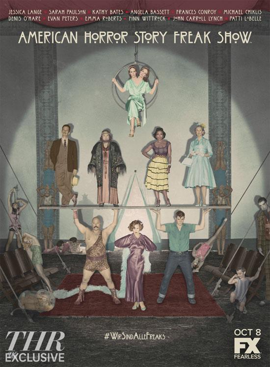 american horror story freak show cast poster