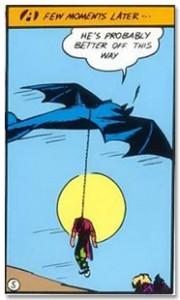 batman hangs a man