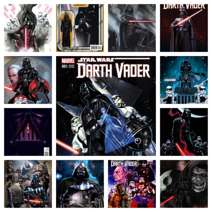 Darth Vader variant collage