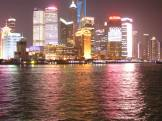 The growth of Shanghai is highlighted at night