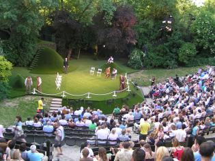 Midsommers Night's Dream being performed in London's Regents Park