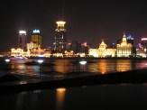 Illuminated Bund in Shangai