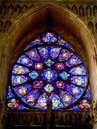 Illuminated Glass, Notre-Dame de Reims France