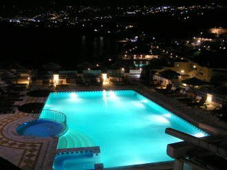 Illuminated Pool, Mykonos