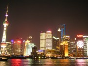 Illuminated Pudong Shanghai