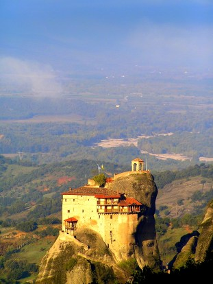 One of the monasteries on top of the pillars at Meteora, Greece 3