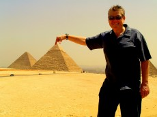 On top of the Pyramids, Giza, Egypt
