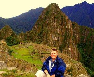 At the Sun Gate at Machu Picchu, Peru