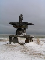 T is the shape of the Inukshuk in Churchill Canada