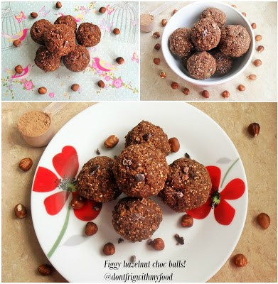 Figgy hazelnut choc balls Breakfast Desserts energy balls Lunch snack vegan