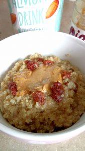 Cinnamon raisin cashew quinoa porridge Breakfast vegan