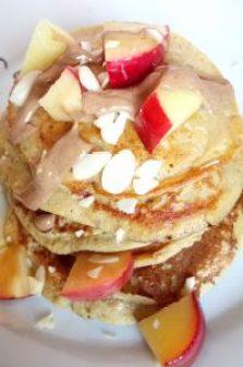 Healthy oaty apple pie blender pancakes Breakfast Lunch