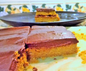 Beauty food pumpkin bars and healthy chocolate ganache Breakfast Desserts Grainfree Lunch snack