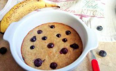Single serving breakfast blueberry banana bread Breakfast Desserts snack vegan