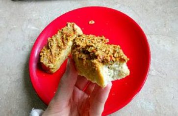 Cashew, bean & herb dip with low carb coconut flour bread Breakfast Grainfree Lunch snack