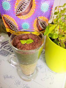 Mint matcha chocolate chia pudding Breakfast Desserts Grainfree vegan