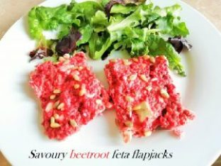 Savoury beetroot feta flapjacks Dinner Lunch snack