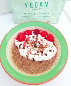 Plant protein bounty overnight oats Breakfast vegan