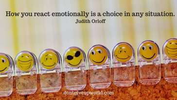 This is one of Judith Orloff's Most Inspirational Quote on 'Reacting Emotionally', that too with free wallpaper. Enjoy and Motivate yourself.