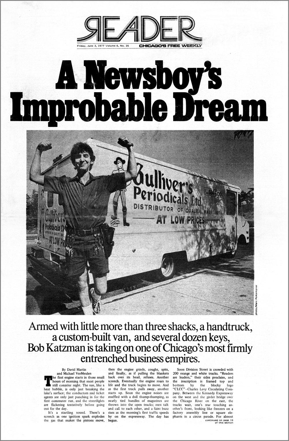 Chicago Reader, June 3, 1977: Bob Katzman of Gulliver's Periodicals