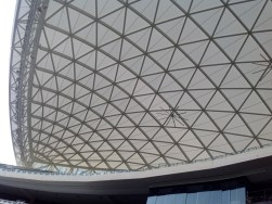 The grandstand roof at Adelaide Oval.
